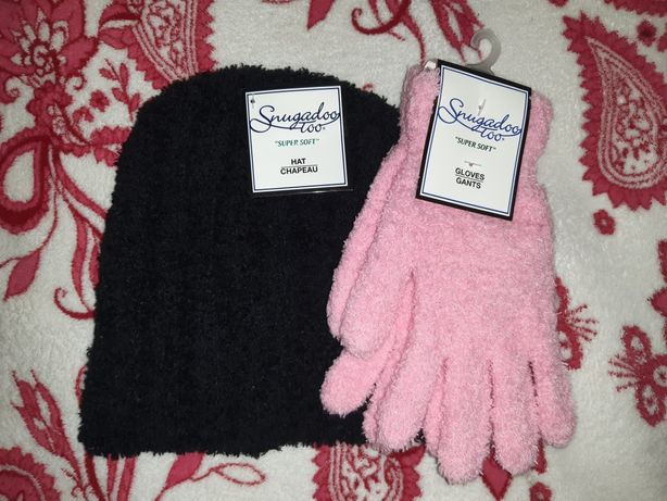 НОВЫЙ с США комплект шапка,перчатки с бирками