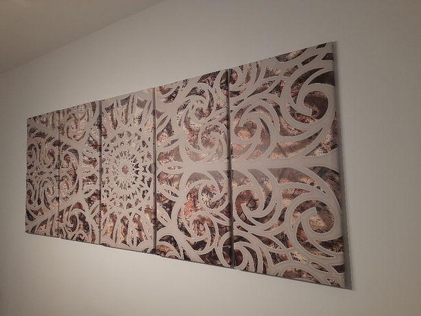 Mandala na ścianę, obraz, ozdoba ściany 200x80