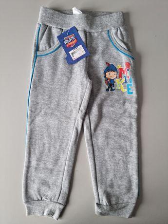 Nowe spodnie dresowe 92 98 ocieplane