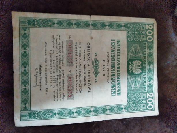 Narodowa Pożyczka Rozwoju Polski -Obligacja 1951