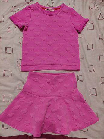 Костюм H&M, юбка + футболка, 8-10 лет