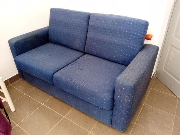 Sofá cama azul 2 lugares