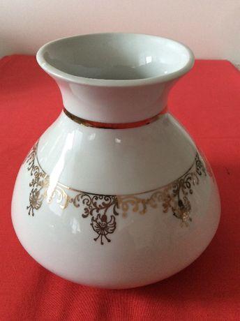 wazon Chodzież biały złoto Bardzo piekny porcelana