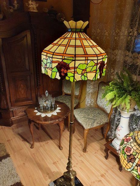 Lampa stojąca w stylu tiffany