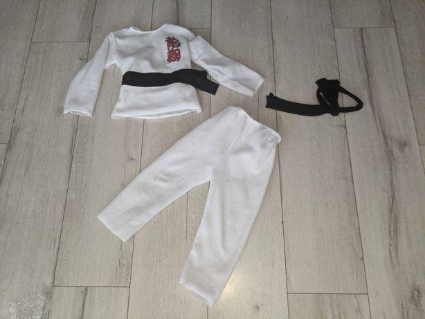 kostium strój przebranie karateka taekwondo r 98 104