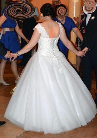 Nowa Biała Suknia ślubna 40, 42 raz założona - ślub, do ślubu, wesele
