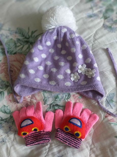 Шапка Gubby для девочки на флисе 1 год