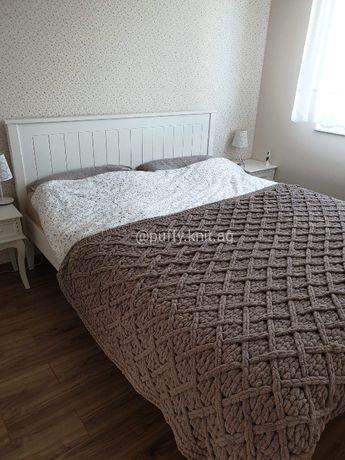 """""""""""HANDMADE"""""""" Duży Koc Narzuta na łóżko 150/200 Włóczka """"Alize Puffy"""""""