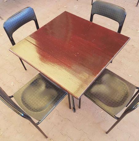 Meble ogrodowe - stół + 4 krzesła