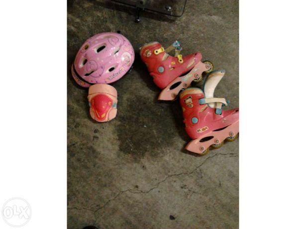 Vendo conjunto patins em linha