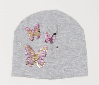 Шапочка бабочки от h&m с переворотными пайетками разм.2-4 года Zara