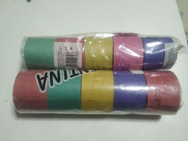Pack 2 Embalagens de Serpentinas - 10 rolos