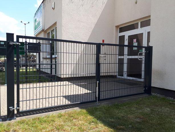 Brama dwuskrzydłowa PREMIUM malowana proszkowo RAL 7016