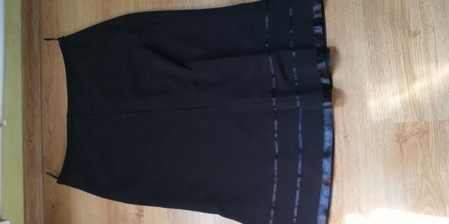 Spódnica czarna na podszewce