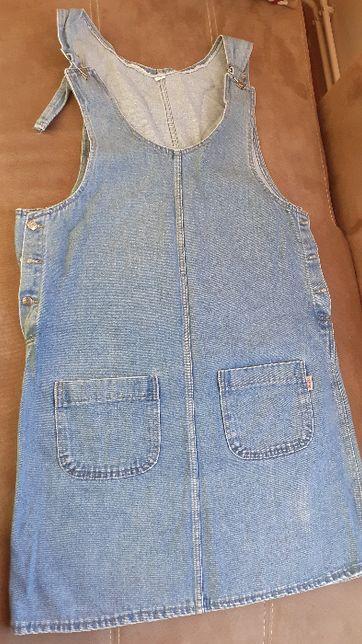 Dzinsowa sukienka ciążowa