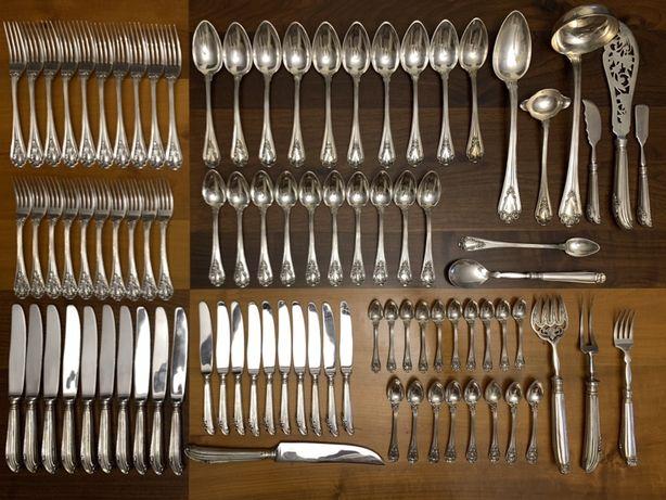Faqueiro em Prata c/marca Javali 6.655 gramas - de 1887 a 1938. 90pcs