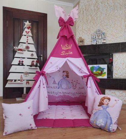 Вигвам детский, палатка (Акция - 2 декоративные подушки в подарок)