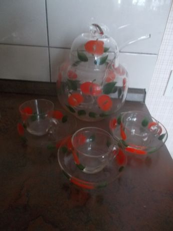 Набор крюшонница с чашками (стекло) СССР