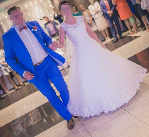 Suknia ślubna - kryte plecy rozm.38