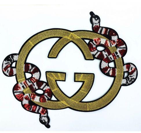 GG - Aplique | Patch com cobra e Gs invertidos