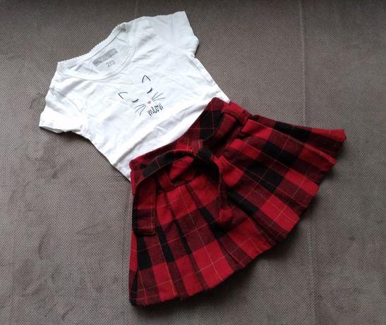 Zestaw bluzka i spódniczka w rozmiarze 80
