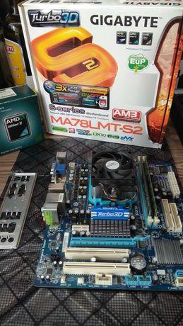 Комплект AMD Athlon II X4 + GA-MA78LMT-S2 + 8gb ddr3