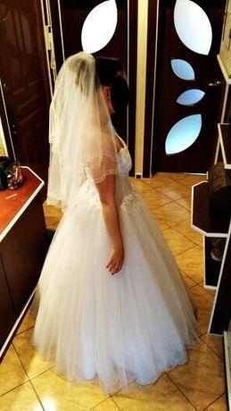 Piękna Suknia ślubna firmy RAMONA roz. 34-36 gorset