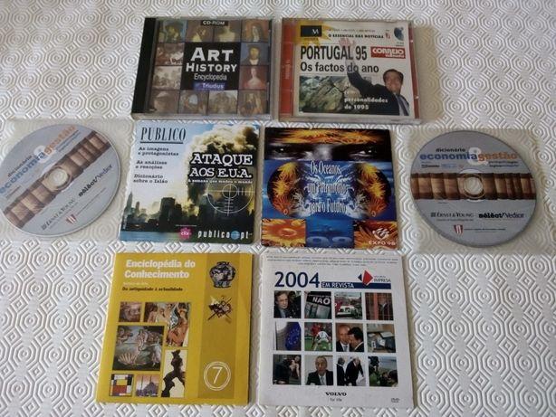Cds e Dvds Diversos - Antiguidades - História -Arte e Gestão- Economia