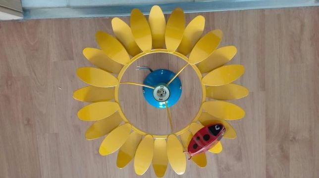 lampa żyrandol sufitowy słoneczko