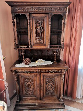 Piękny stary rzeźbiony kredens mebel komoda