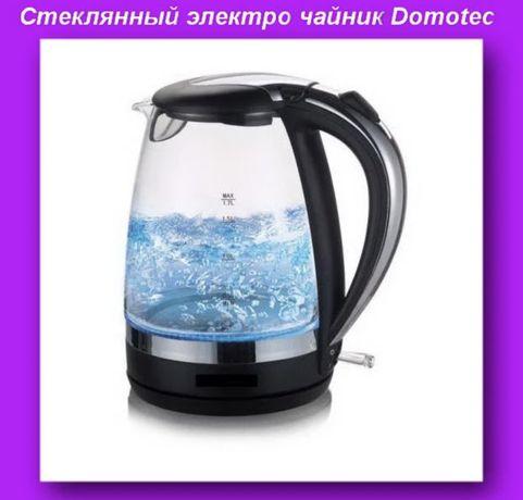 Новый стеклянный электрочайник Domotec MS-8110 / 2250 Вт чайник