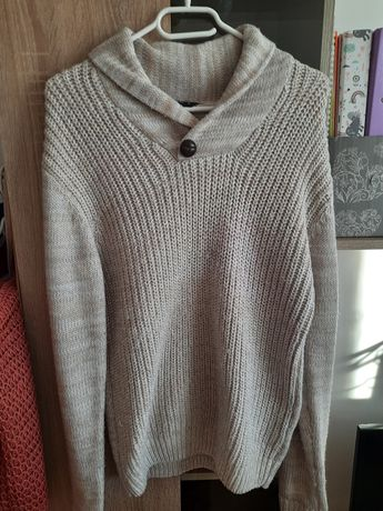 Sweter beżowy r. 36