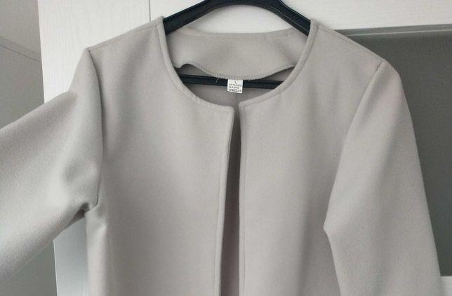 Elegancki płaszczyk kolor szary/popielaty/siwy -  nowy