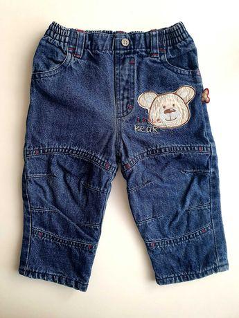 Spodnie jeansowe ocieplane roz. 74/80