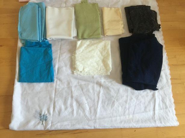 Ткани -отрезки для ручного труда и пошива одежды для кукол