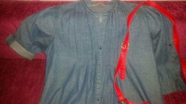 Koszula nowa ciążowa r 16 44 plus nowa torebka zestaw ciążowy