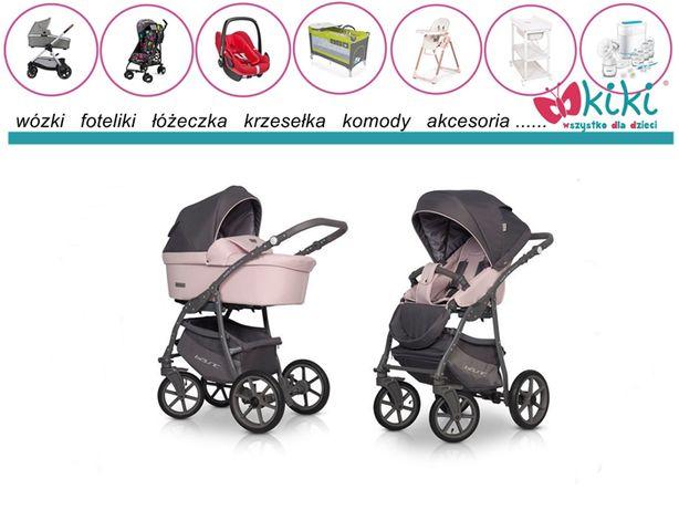 Wózek uniwersalny Riko Basic Plus Pastel Pink 2w1 możliwość 3w1