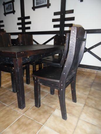 Меблі для бару, для дачі тощо / Стол и стулья с дерева масив хвоя