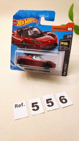 Carros Hot Wheells Miniaturas  Space Star man Tesla. Tesla Roadster