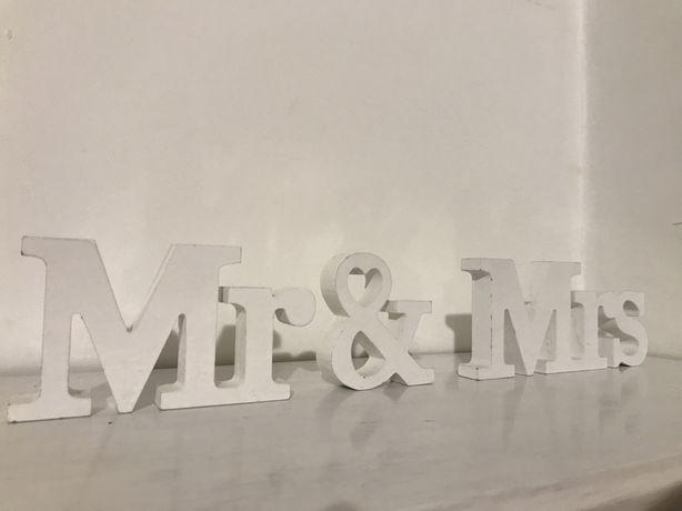Napis MR & MRS