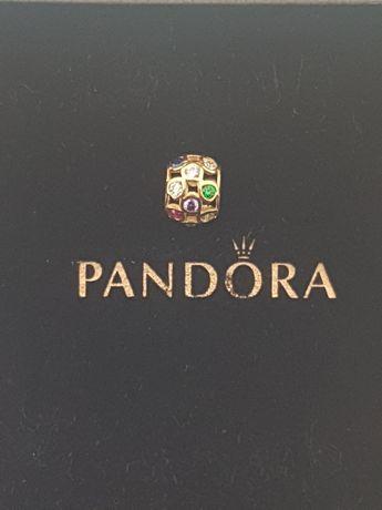 Złoty element charms na bransoletkę Pandora 14k.Nowy (272)