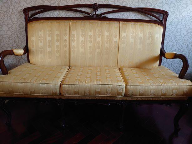 Canapé, sofá antigo.