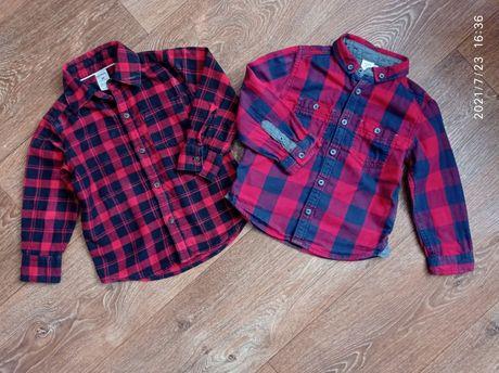 Рубашки 80 за две 2-3г 92/98рост Carter's Miniclub