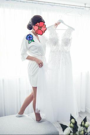 Zjawiskowa suknia ślubna 168cm+8cm szpilka
