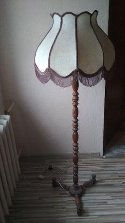 Lampa stojaca, vintage, prl, drewniana