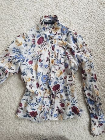Zara koszula bluzka jedwab