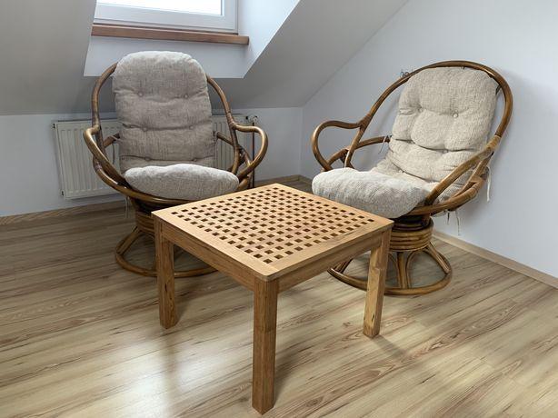 Fotele fotel z rattanu rattanowe