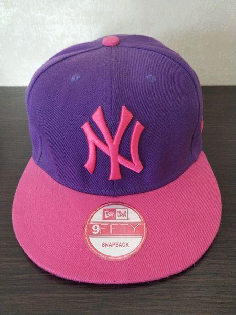 Модная кепка, бейсболка NY New Era 9FIFTY Нью Йорк фиолетово-розовая