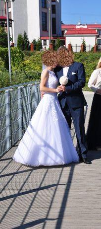 Suknia ślubna rozm. 34/36 JUSTIN ALEXANDER model 8630 + bolerko