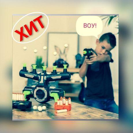 ТОП! Детская игра Воздушный тир пистолет с дротиками и мишенями